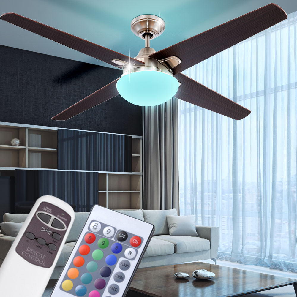 led rgb deckenventilator lampe wohnzimmer fernbedienung farbwechsler d 132 cm ebay. Black Bedroom Furniture Sets. Home Design Ideas