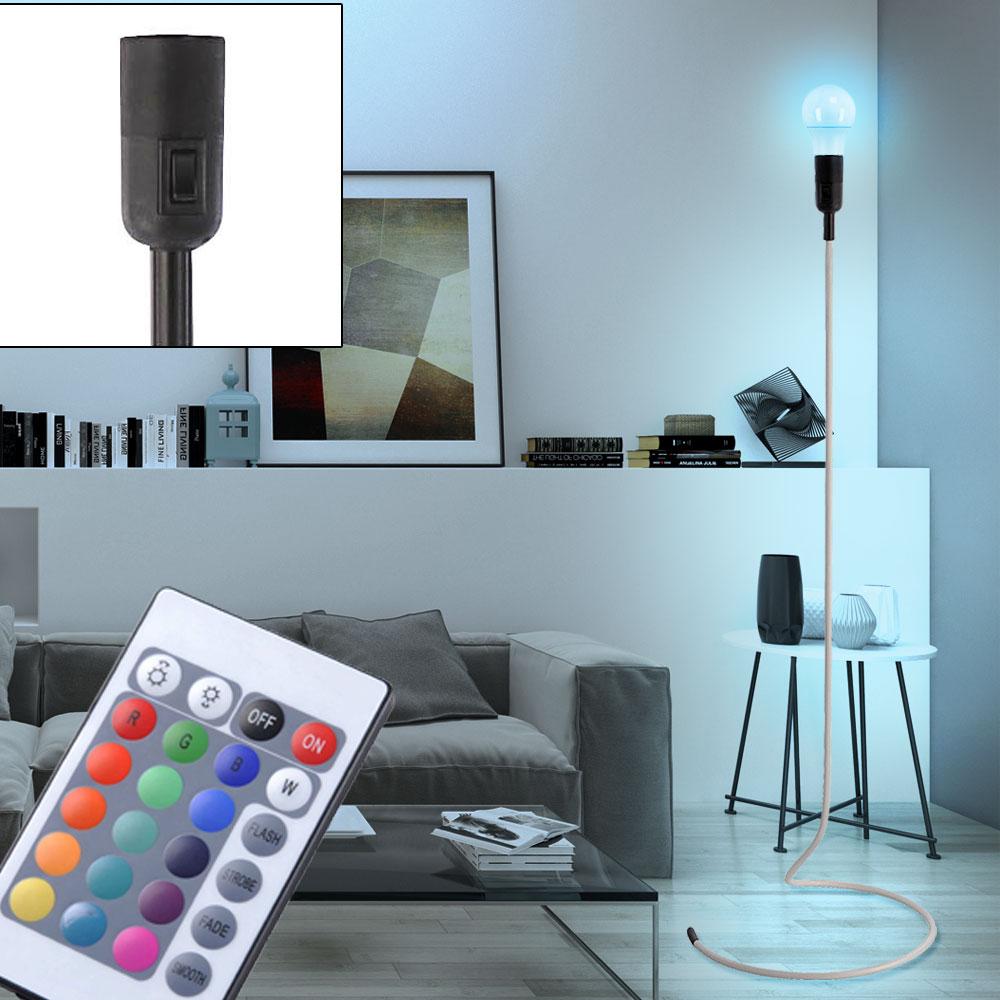 rgb led retro beleuchtung 7 watt fernbedienung stand lampe farbwechsel leuchte ebay. Black Bedroom Furniture Sets. Home Design Ideas