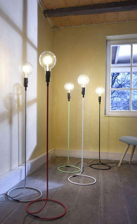 Design Retro Steh Lampe Wohnraum Stand Leuchte im Set inklusive LED Leuchtmittel – Bild 4