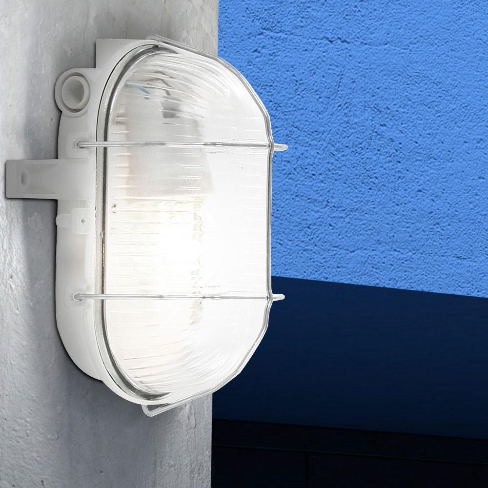 au en lampe fassaden feucht raum decken beleuchtung ip44 keller leuchte oval e27 ebay. Black Bedroom Furniture Sets. Home Design Ideas