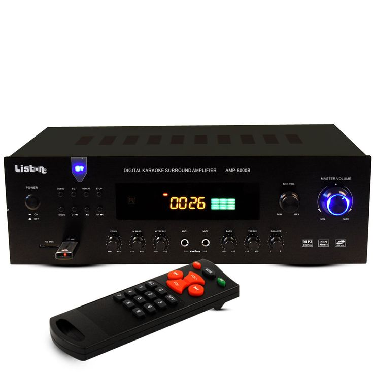 600 Watt PA amplifier party compact system receiver Bluetooth MP3 USB FM radio Liston AMP 8000 B – Bild 1