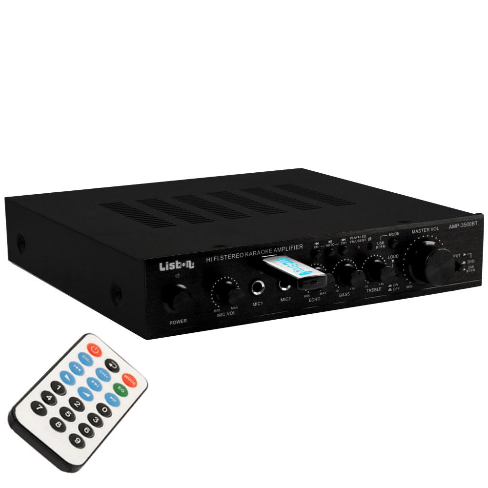 Bluetooth MP3 Karaoke amplifier with remote control AMP3500BT – Bild 1