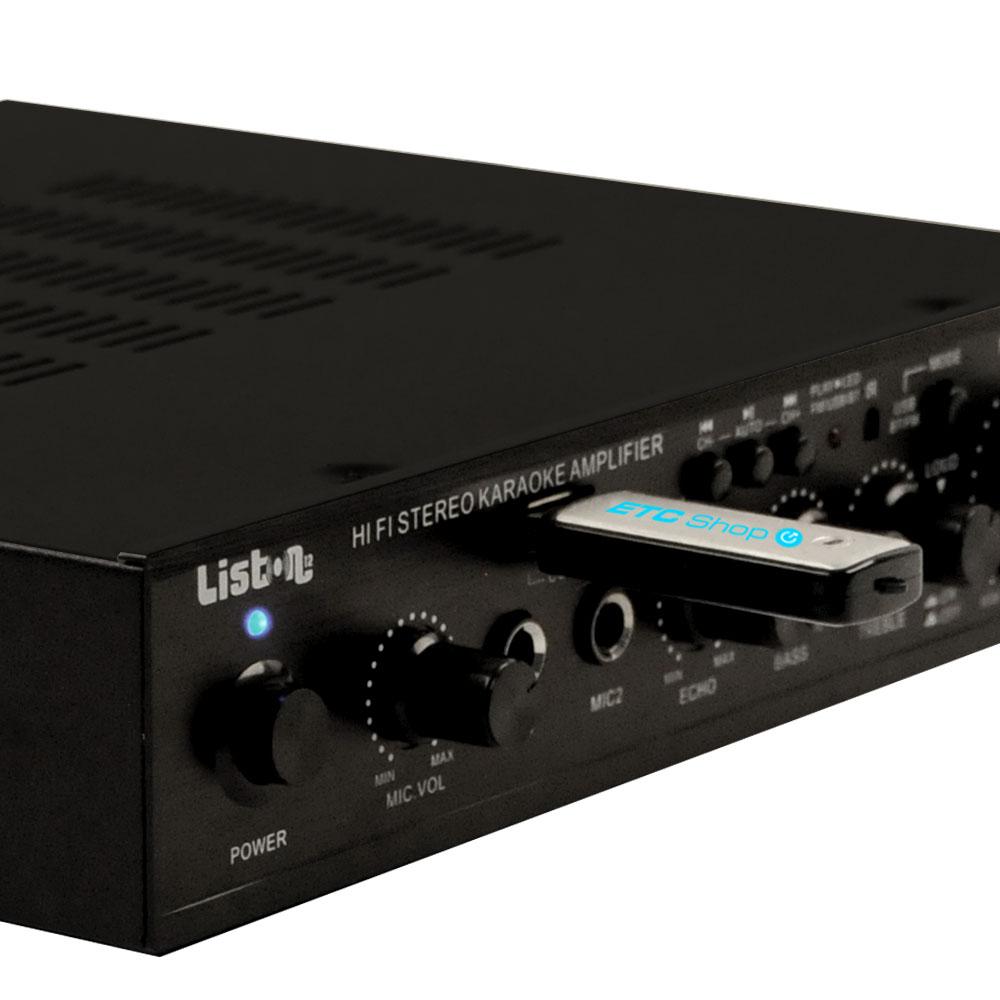 Bluetooth MP3 Karaoke amplifier with remote control AMP3500BT – Bild 3