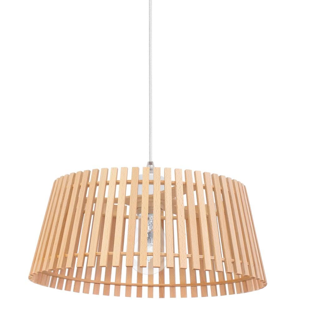 h ngeleuchte mit einem lampenschirm aus holz lampen m bel innenleuchten h ngeleuchten. Black Bedroom Furniture Sets. Home Design Ideas