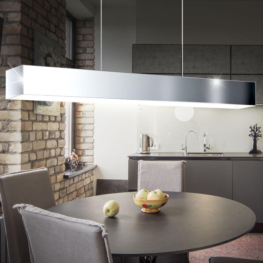 elegante led h ngeleuchte in chrom f r ihre vier w nde lampen m bel innenleuchten. Black Bedroom Furniture Sets. Home Design Ideas