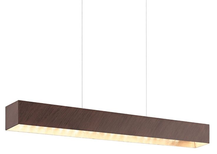 Elegant LED hanging lamp as a wood and glass – Bild 1