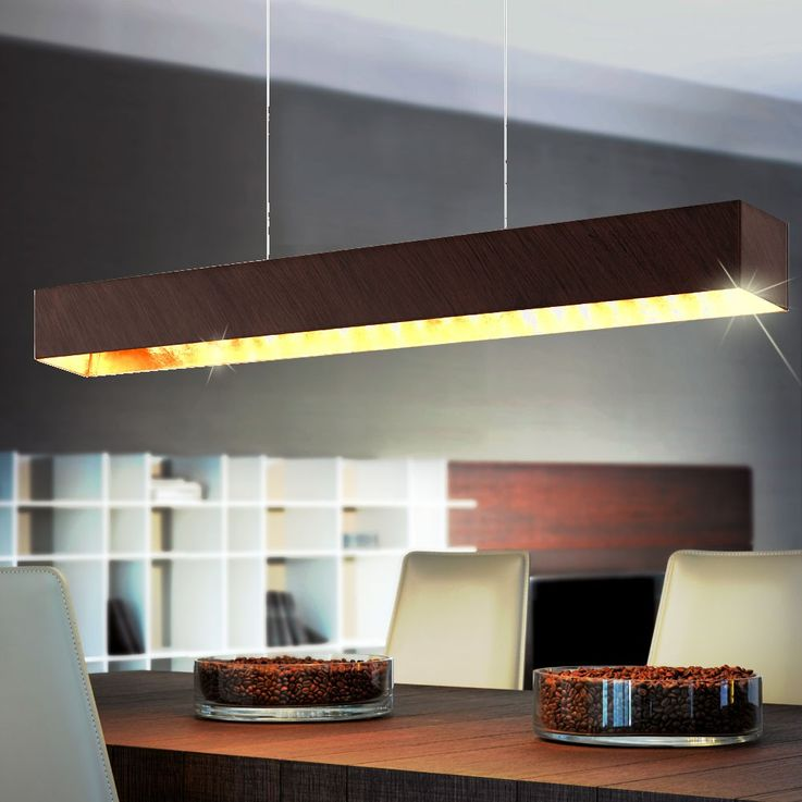 Elegant LED hanging lamp as a wood and glass – Bild 5