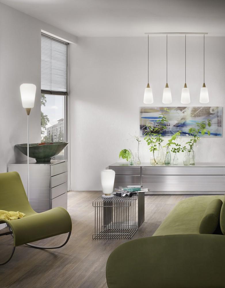 Decken pendel lampe beleuchtung holz glas strahler esszimmer h nge tisch leuchte ebay - Pendellampe esszimmer ...
