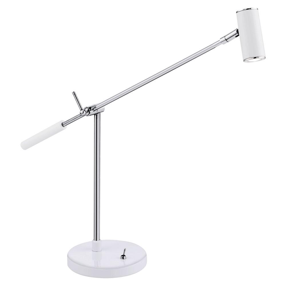 Monter Une Lampe De Chevet luminaire de table led chevet lampe del lecture blanc brillant chrome bureau
