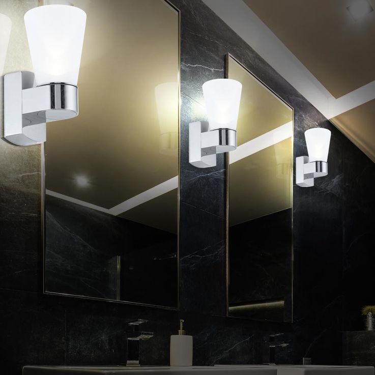 Außen Beleuchtung Strahler Wand Lampe Leuchte Licht IP44 Glas satiniert Eglo 91988 – Bild 5