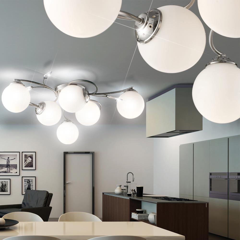 30 watt starke smd led deckenleuchte mit sechs kugeln. Black Bedroom Furniture Sets. Home Design Ideas