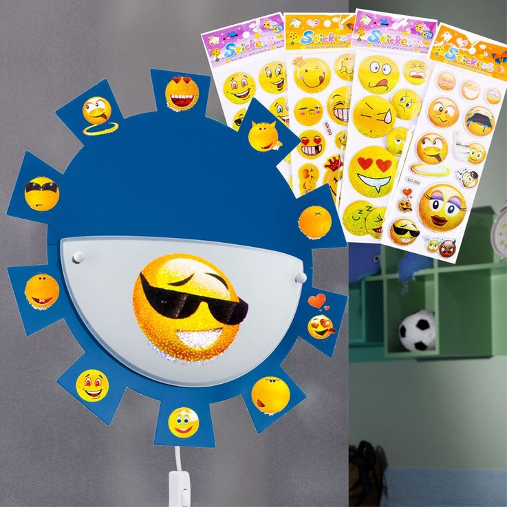 LED nursery lamp with smiley face stickers – Bild 2