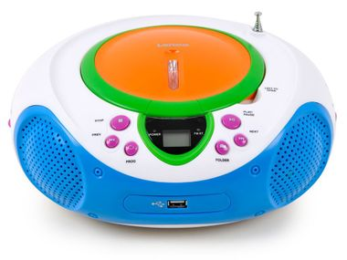 HiFi radio party music stereo system CD MP3 AUX USB player nursery set including Hello Kitty sticker – Bild 4
