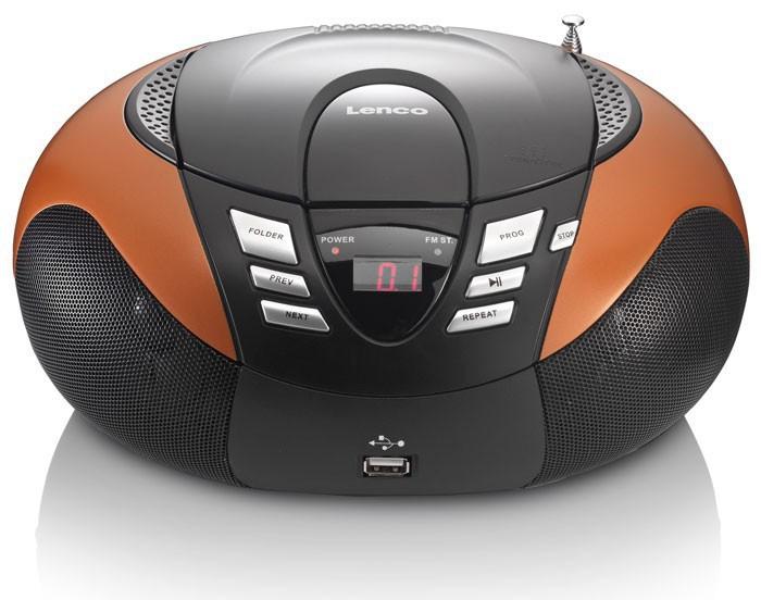Tragbarer CD-Player mit UKW MW Radio Tuner MP3 WMA USB mit Puffy Sticker – Bild 4