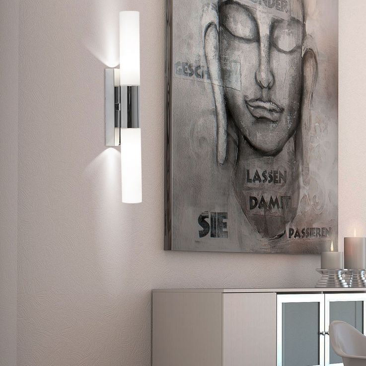 2 set LED wall lamps with frosted opal glass – Bild 7