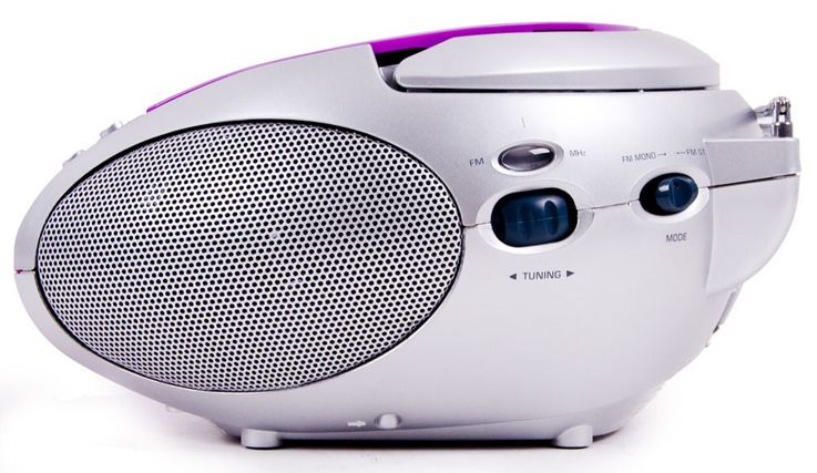 Lecteur CD portable filles musique MP3 radio lilas autocollants Winnie l'Ourson  – Bild 5