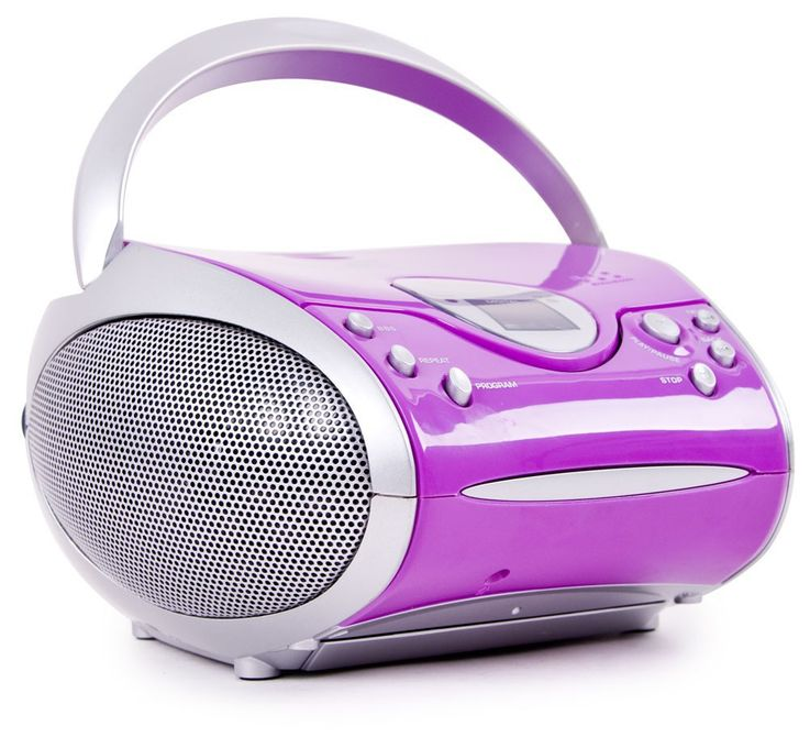 Hochwertiges Stereo FM Radio CD Player Lautsprecher tragbar Musik im Set inklusive Kopfhörer – Bild 3