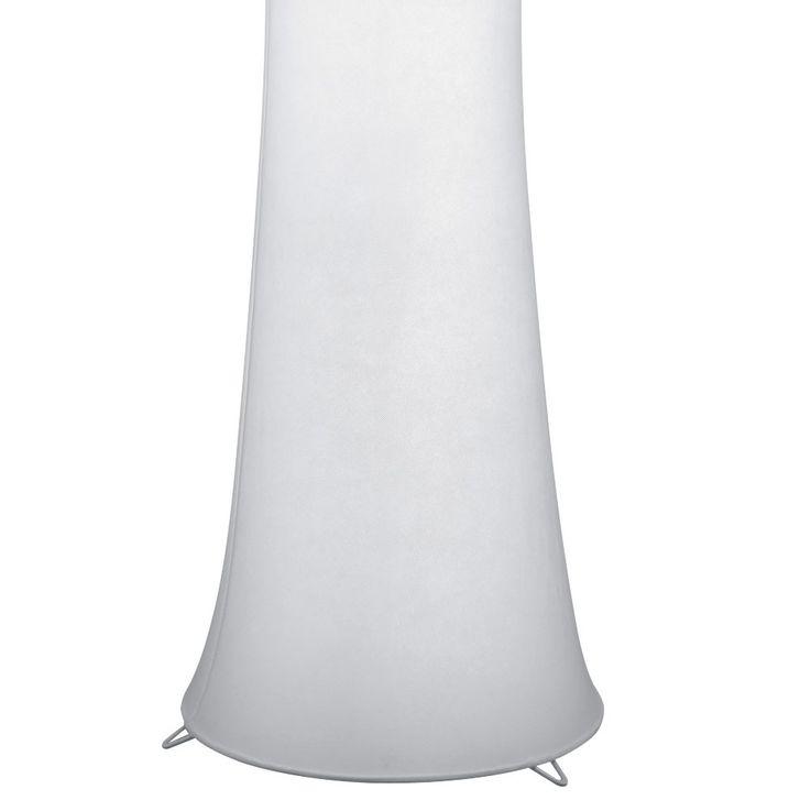 Design Stand Leuchte Textil weiß Flur Schlaf Zimmer Lampe Tritt Schalter Reality R40172001 – Bild 4
