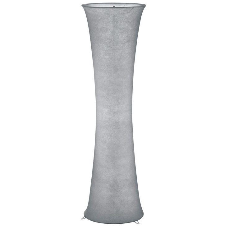 Elegante Steh Stand Lampe Stoff Wohnraum Lobby Fußschalter Beleuchtung grau IP20 Reality R40172087 – Bild 1