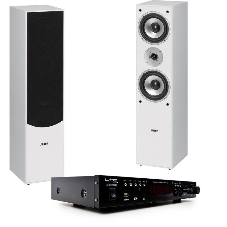 HiFi home theater stereo Bluetooth USB MP3 amplifier white stand boxes HIFI premium 10 – Bild 1