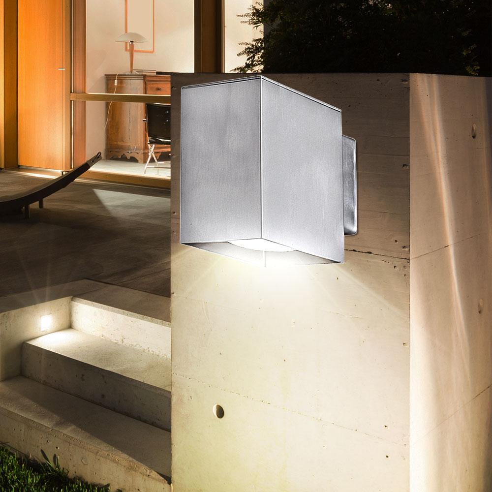 3er set led wandleuchten f r den au enbereich unsichtbar. Black Bedroom Furniture Sets. Home Design Ideas