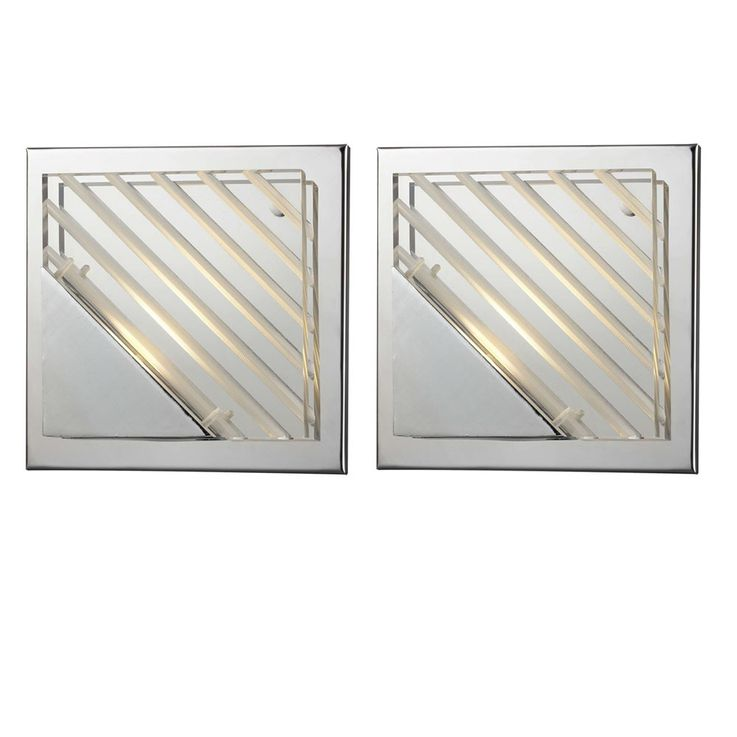 High-quality 2-piece set 5 watt LED wall lights chrome – Bild 1