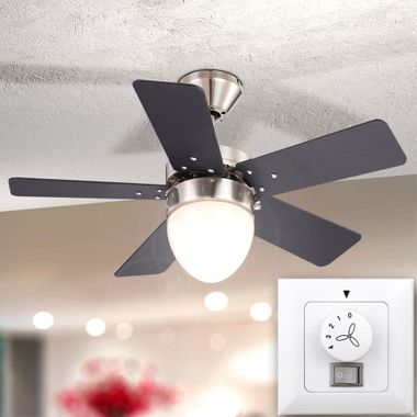 Ceiling fan cooler living room light pull lighting include wall switches in Set – Bild 9
