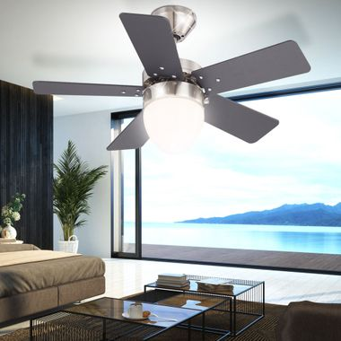 Ceiling fan cooler living room light pull lighting include wall switches in Set – Bild 5