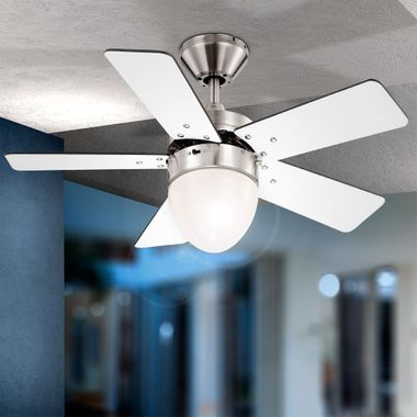 Ceiling fan cooler living room light pull lighting include wall switches in Set – Bild 8