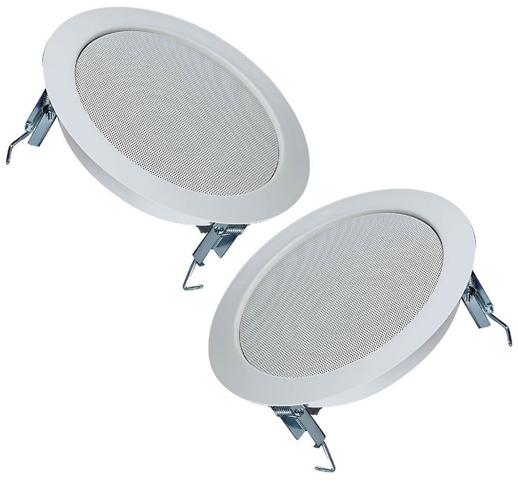 2 set ceiling Koaxoall speaker boxes metal Korrosiossicher HiFi room sound reinforcement – Bild 1