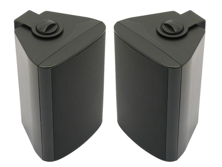 2 set full range 2 way boxes outdoor speaker black weatherproof IP54 100 Volts – Bild 1