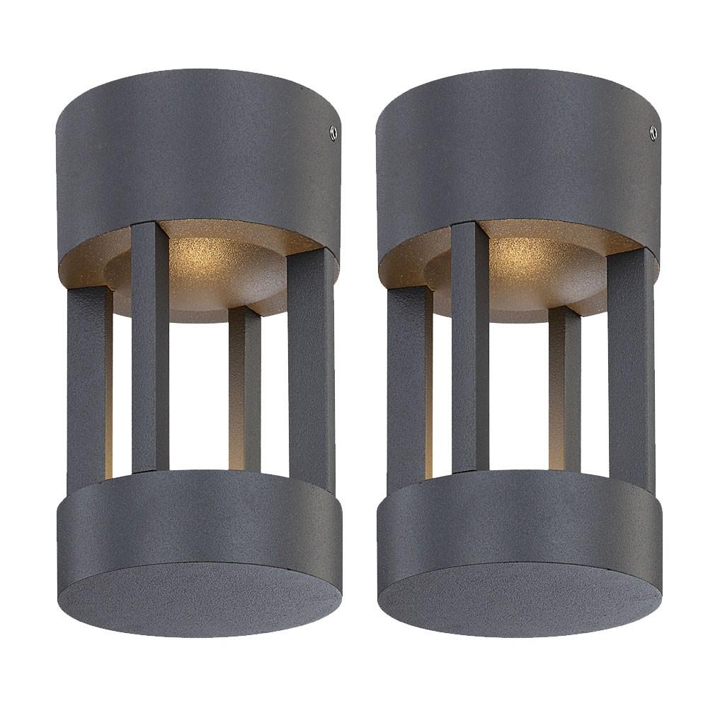 2 X Plafonnier Led 10 W Luminaire Plafond Lampe Exterieur Led