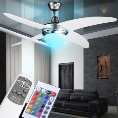 Cover fan lamp fan color changes in the set included RGB LED light source – Bild 2