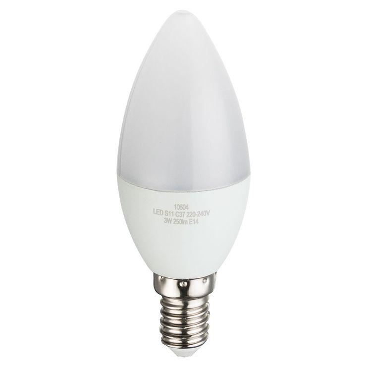 LED 3 Watt Kerzen Form Leuchtmittel 250 Lumen Leuchte Sockel E14 3000 Kelvin Globo 10604 – Bild 1