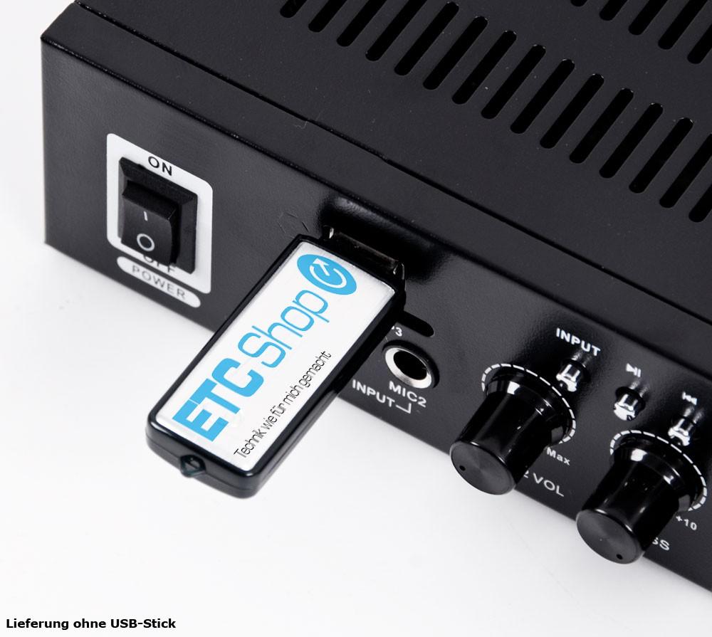 PA Set mit Boxen und Karaoke Bluetooth Verstärker DJ-Party 9 – Bild 4
