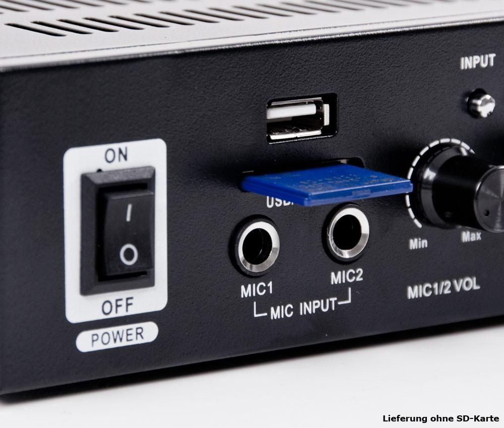 PA Set mit Boxen und Karaoke Bluetooth Verstärker DJ-Party 9 – Bild 5