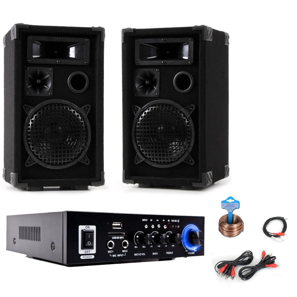 PA Set mit Boxen und Karaoke Bluetooth Verstärker DJ-Party 9