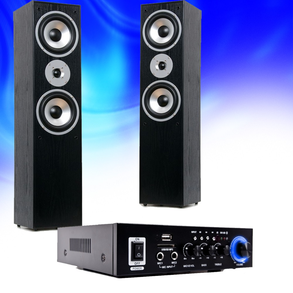 hifi home cinema st r o bluetooth usb sd mp3 amplificateur. Black Bedroom Furniture Sets. Home Design Ideas