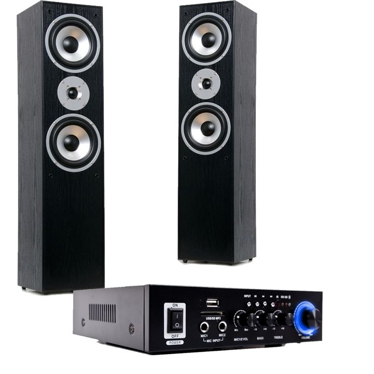 HiFi home cinema system Bluetooth USB SD MP3 amplifier black standing speakers HIFI-premium 13 – Bild 1