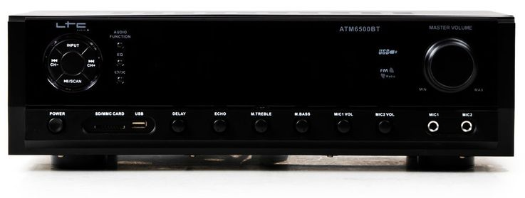 Bluetooth USB SD MP3 Verstärker Fernbedienung Funkmikrofon System DJ-Karaoke 8 – Bild 3