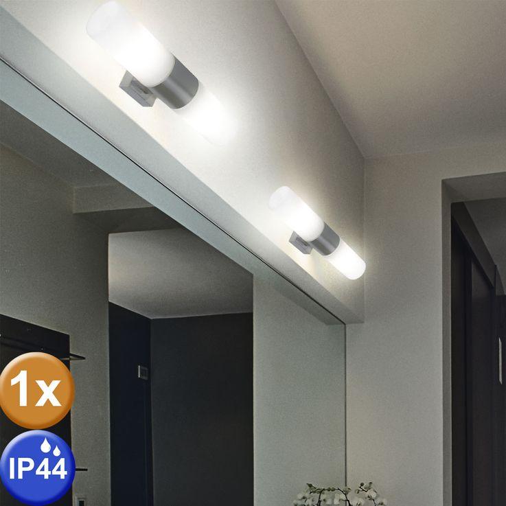 Design wall lamp bath room mirror glass spotlight damp room lamp silver  Nordlux 17141032 – Bild 2