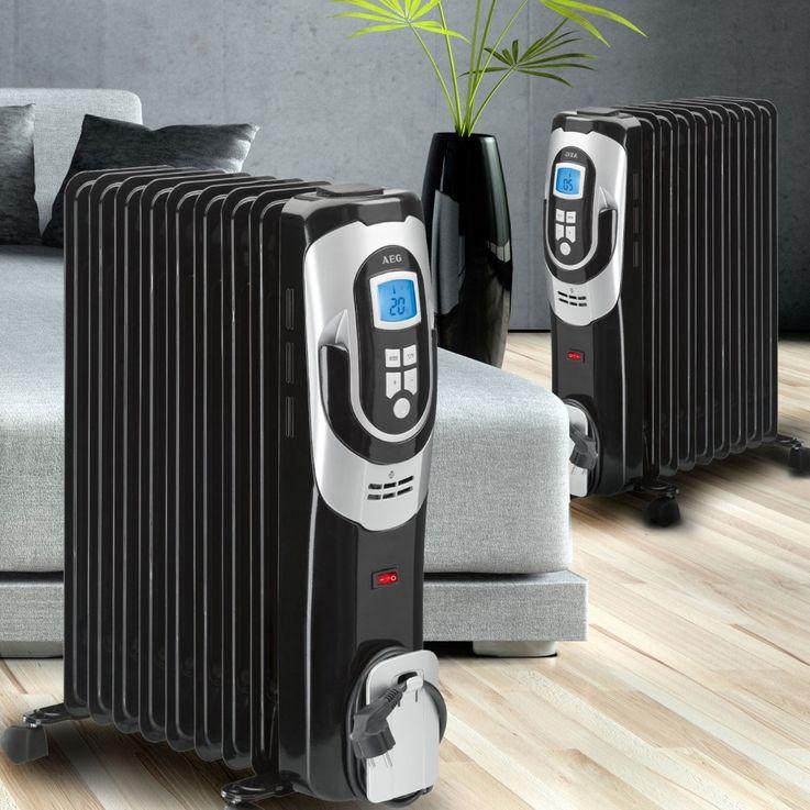 Set of 2 oil heaters radiator fins 9 Heating – Bild 2