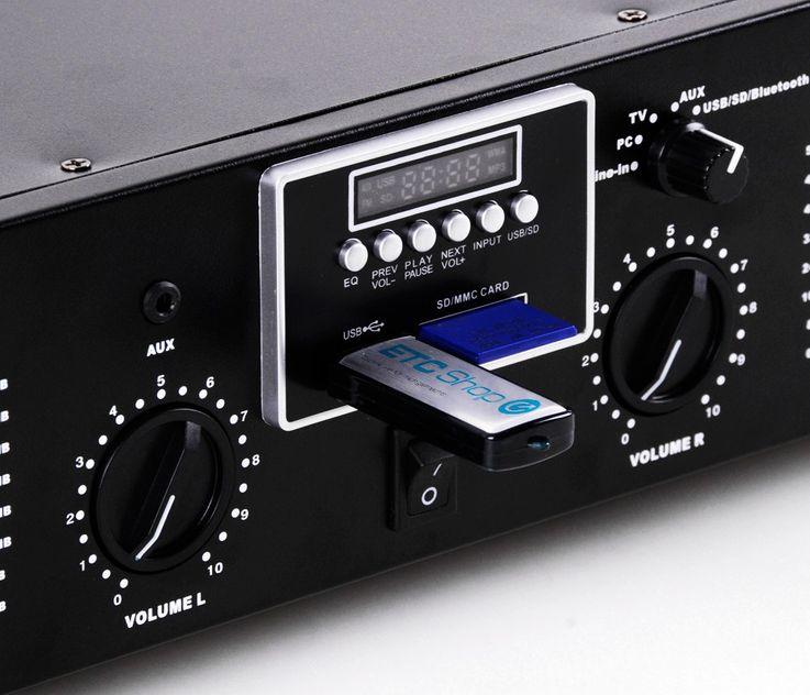 2400W PA Anlage Boxen USB Verstärker MP3 SD Endstufe Lautsprecher Mischpult DJ-Blue 8 – Bild 7