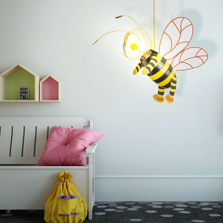 Children room pendant light honey bee hanging lamp wing Hornet Globo 15725 – Bild 3