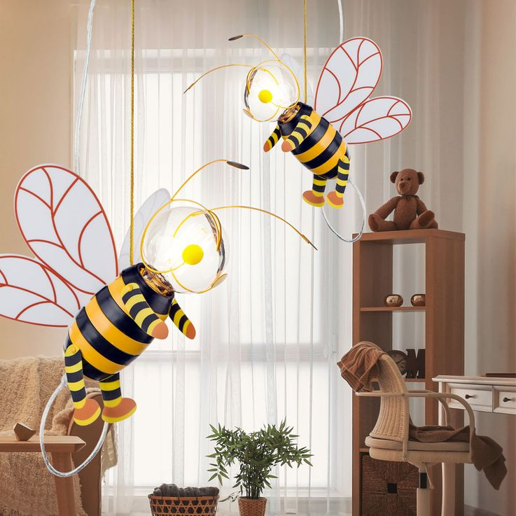 Children room pendant light honey bee hanging lamp wing Hornet Globo 15725 – Bild 4