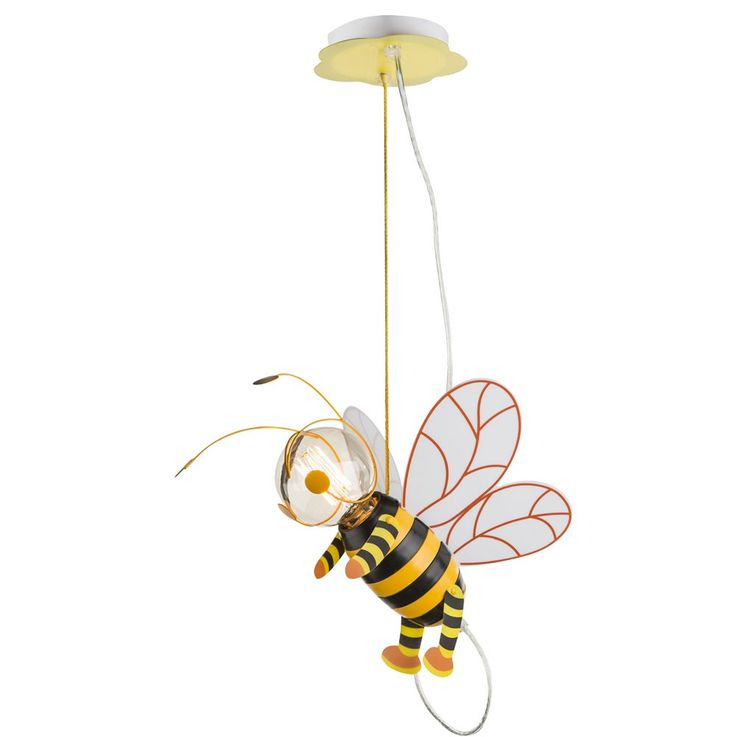 Children room pendant light honey bee hanging lamp wing Hornet Globo 15725 – Bild 1