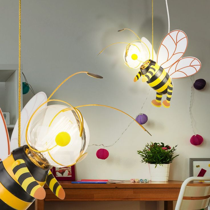 Children room pendant light honey bee hanging lamp wing Hornet Globo 15725 – Bild 6