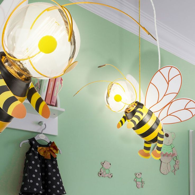 Children room pendant light honey bee hanging lamp wing Hornet Globo 15725 – Bild 5