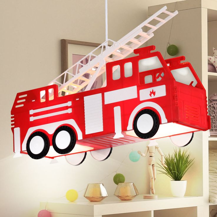 Fire car hanging lamp red pendant lamp children game room lighting Globo 15726 – Bild 4