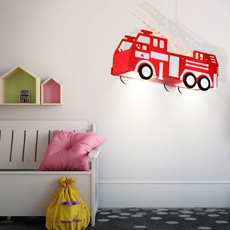 Fire car hanging lamp red pendant lamp children game room lighting Globo 15726 – Bild 3
